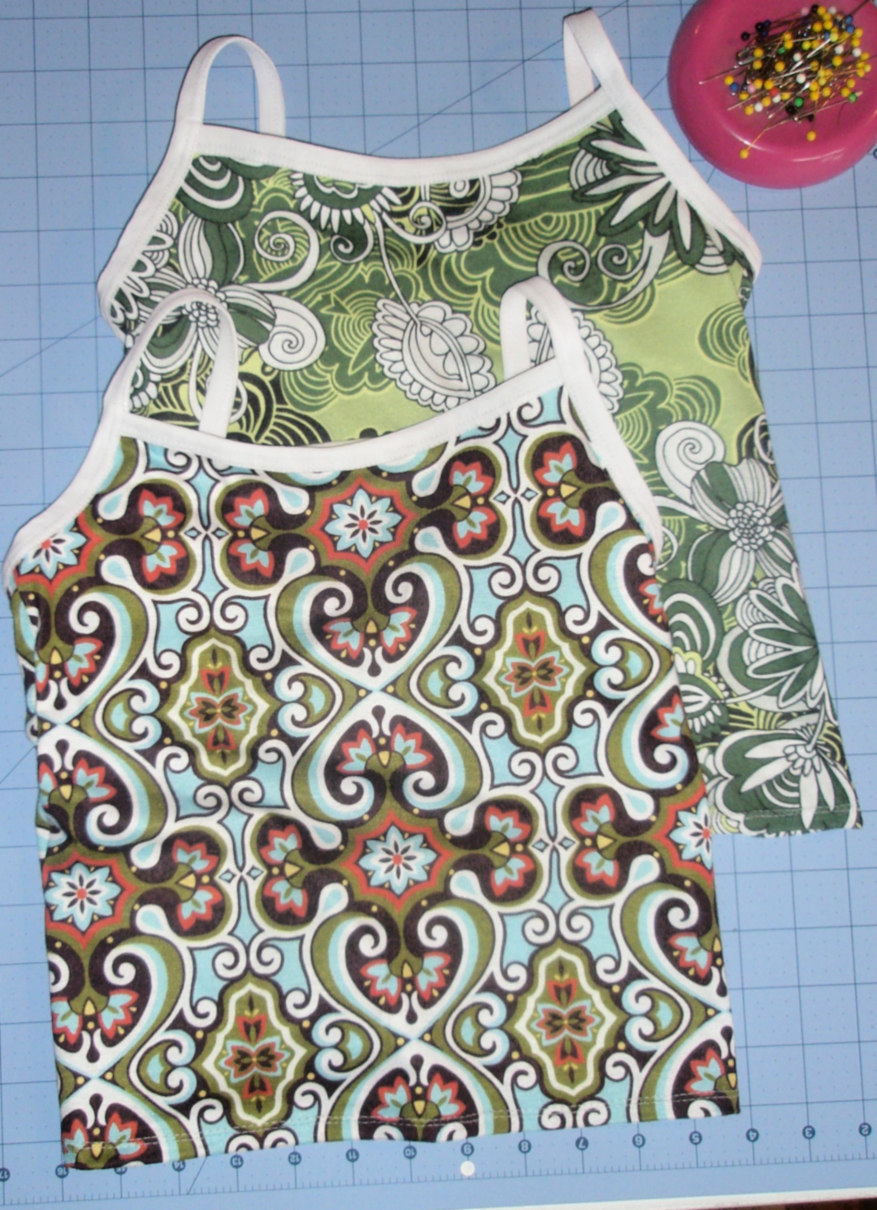 Camisole Inspiration, a sew along, no serger required