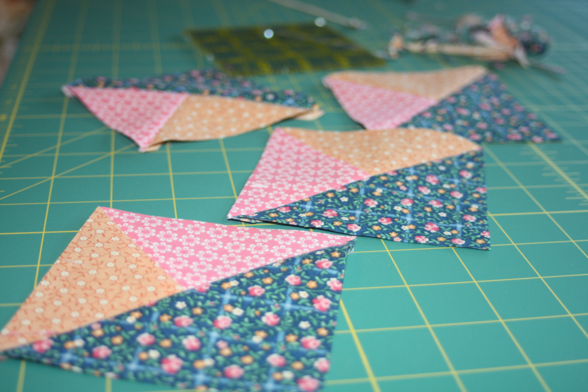 The path, preparing to cut and quilt
