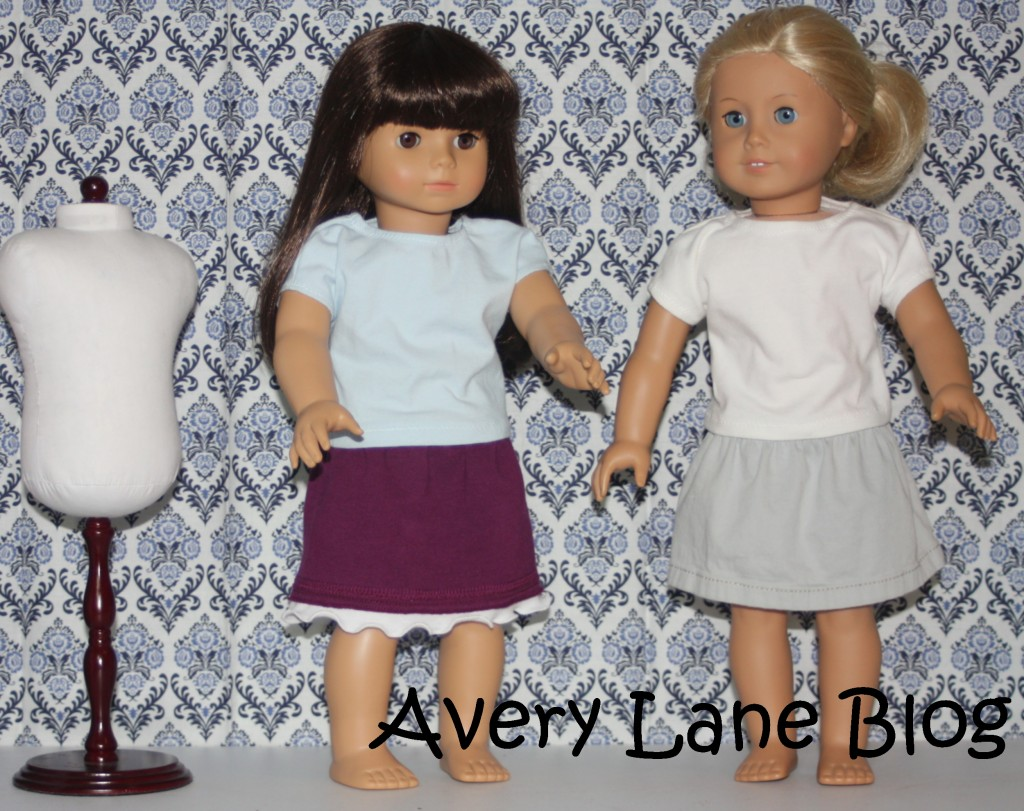 Repurpose : pants to doll skirt : sewing tutorial : Avery Lane Sewing Blog