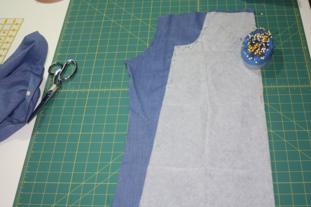 Avery Lane Blog upcycle tutorial mens dress shirt into girl's  tunic12