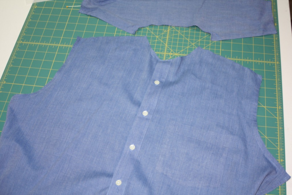 Avery Lane Blog upcycle tutorial mens dress shirt into girl's  tunic15