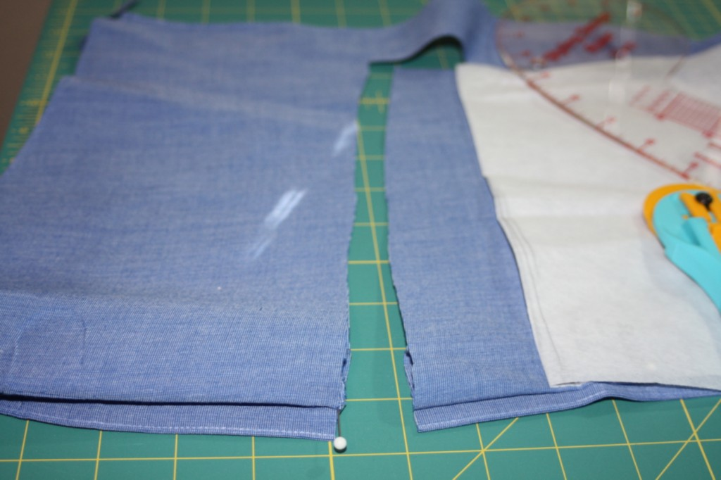 Avery Lane Blog upcycle tutorial mens dress shirt into girl's  tunic20
