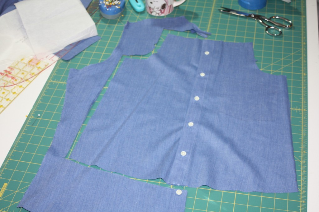 Avery Lane Blog upcycle tutorial mens dress shirt into girl's  tunic21