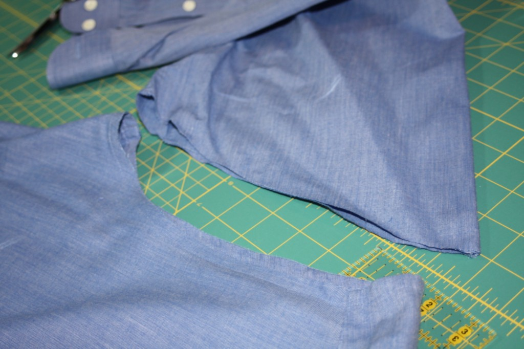 Avery Lane Blog upcycle tutorial mens dress shirt into girl's  tunic5