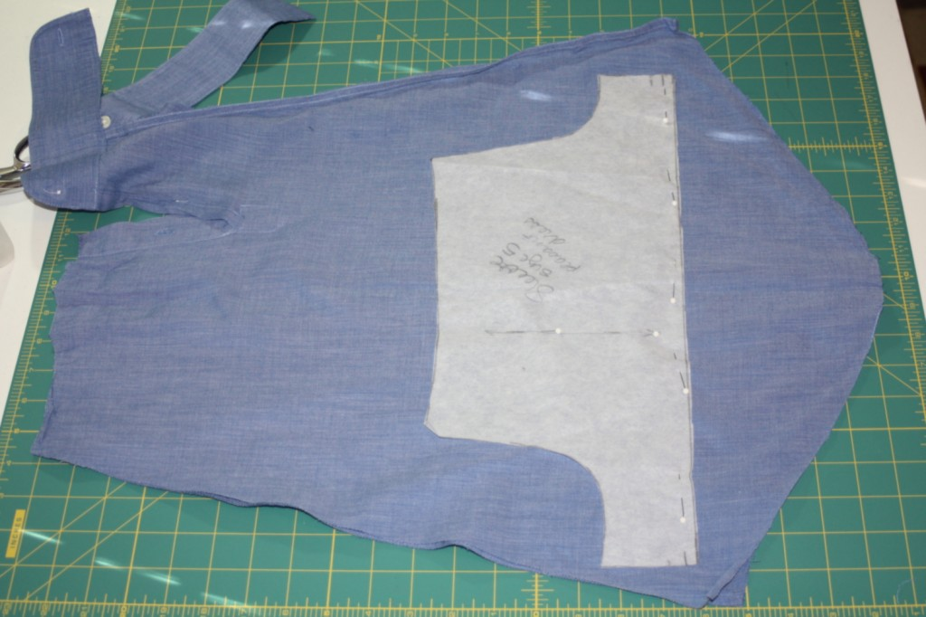 Avery Lane Blog upcycle tutorial mens dress shirt into girl's  tunic8