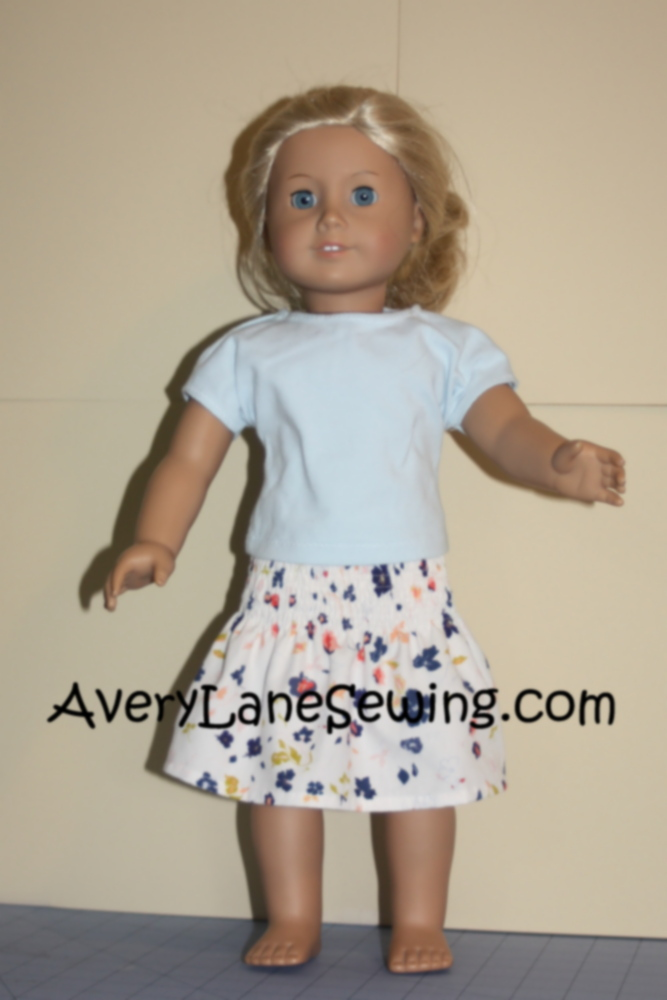 Avery Lane Sewing Blog Doll Elastic Smocked Skirt Tutorial5