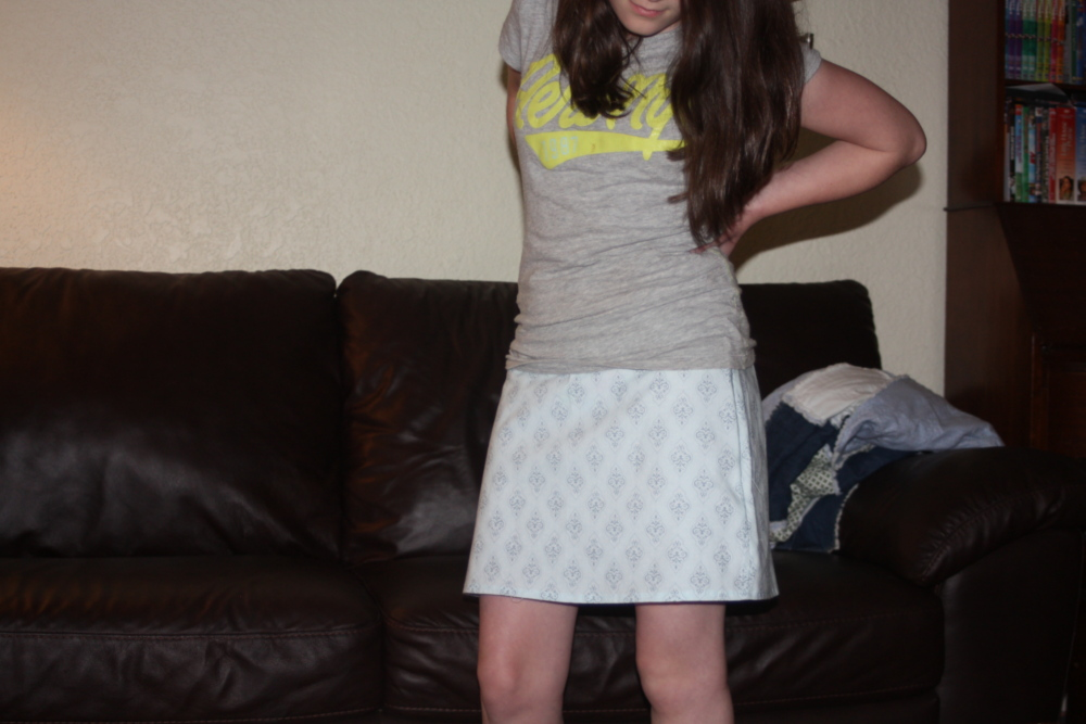 Burdastyle skirt 4-H sewing project