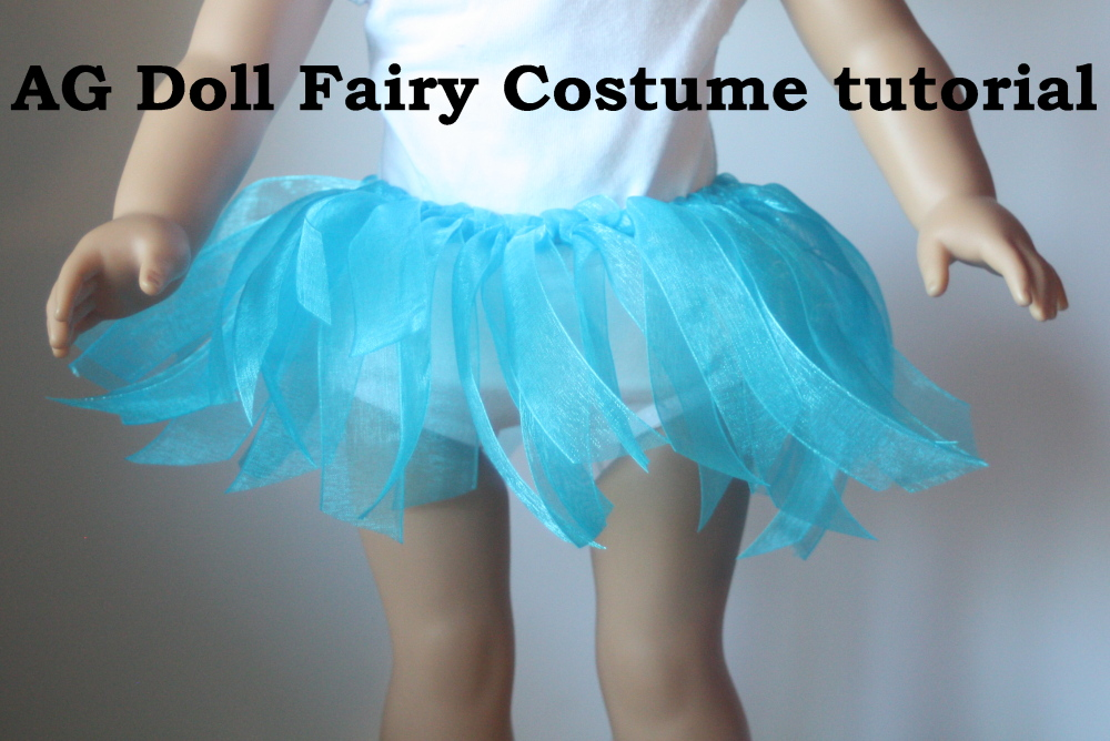 A Faerie costume for dolls tutorial for kids to make 1