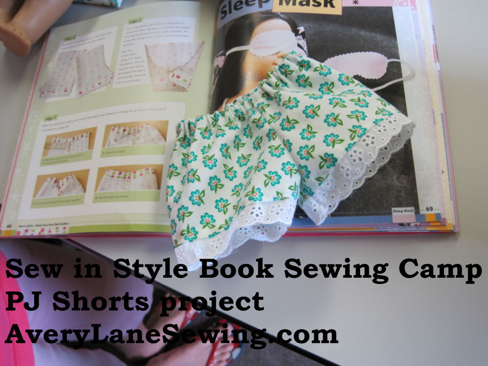Sew in Style Make Your Own Doll Clothes online Summer Sewing Club for kids -- with weekly prizes
