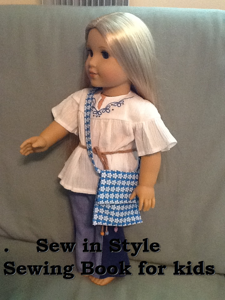 Sew in Style Sewing Book for kids to learn to sew for their AG Dolls AveryLaneSewing