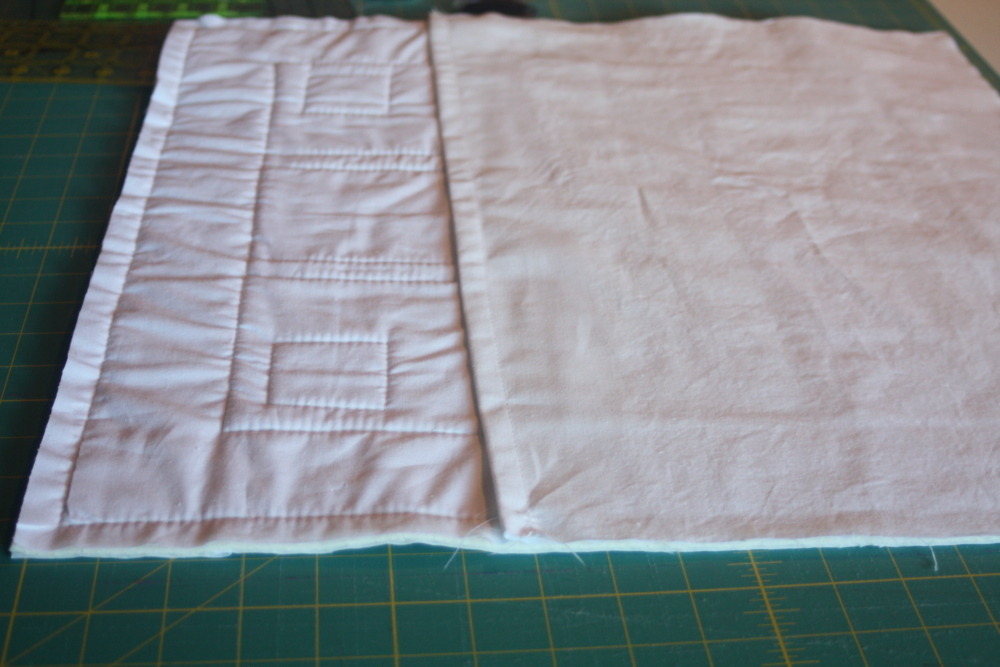 a tutorial for making an easy quilted sham to match quilt