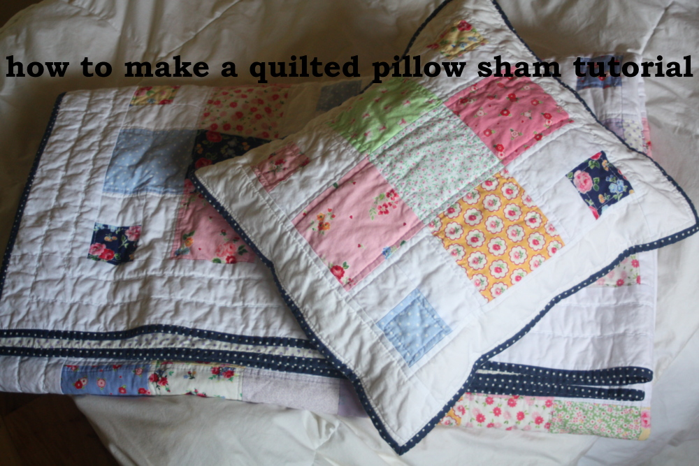 how to make a pillow sham tutorial & A Quilted Sham Tutorial - Avery Lane Sewing pillowsntoast.com