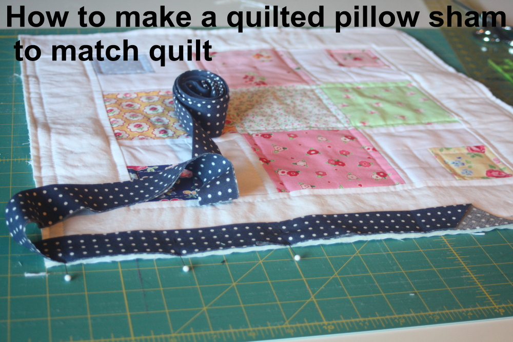 how to make a qilted pillow sham to match a quilt
