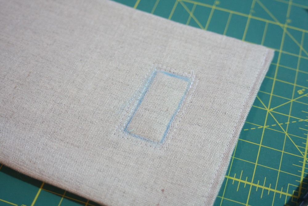 Sewing tutorial for making phone charging station 12