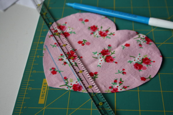 Faux Chenille Valentine Heart Pillow Sewing Tutorial on AveryLaneSewing.com 5
