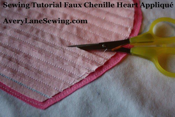 Sewing Tutorial Faux Chenille Heart Appliqué AveryLaneSewing.com 2