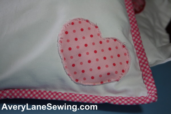 Sewing Tutorial Valentine's Day Chenille Heart Applique AveryLaneSewing