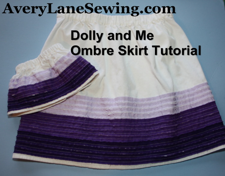 Matching Ombre Skirts Sewing Tutorial