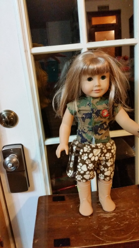 Grace sewed along with me and made her doll some great-looking athletic shorts! She also made the Simple Top! Way to go, Grace!