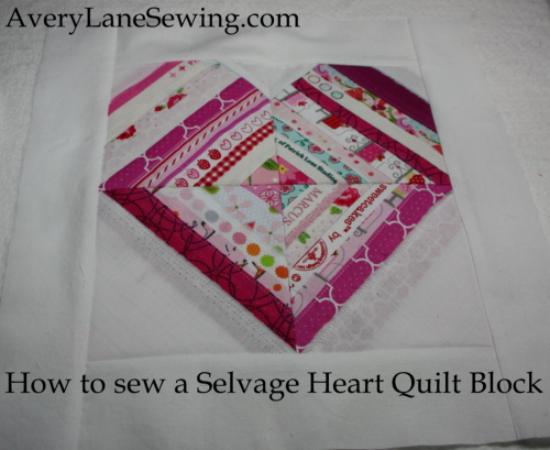 Selvage Heart Quilt Block Tutorial