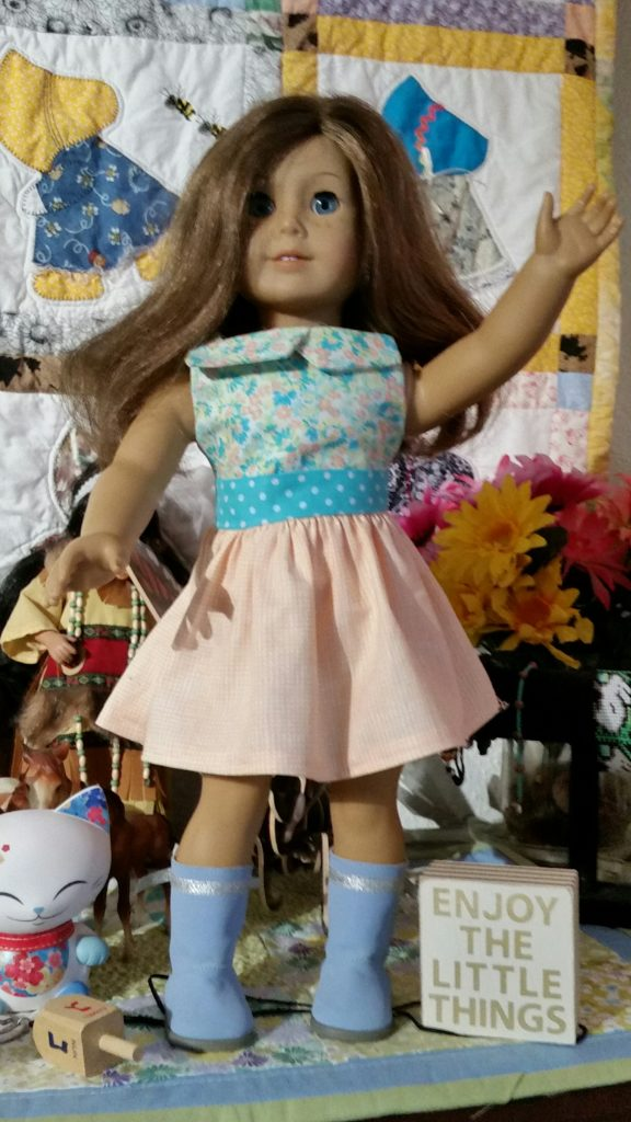 Audrey made the Modern-Vintage Sundress from Doll Days