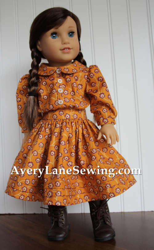 american-girl-doll-clothes-sewing-pattern-laura-ingalls-kristin-dress-by-avery-lane-for-andover-booth-at-fall-quilt-market