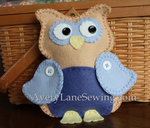 owl felt animal project for kids pdf on Etsy