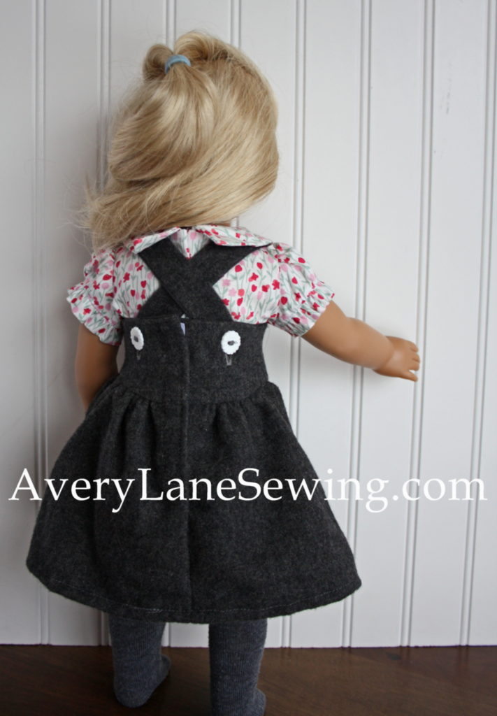 modern jumper dress pattern from doll days back view so cute!!